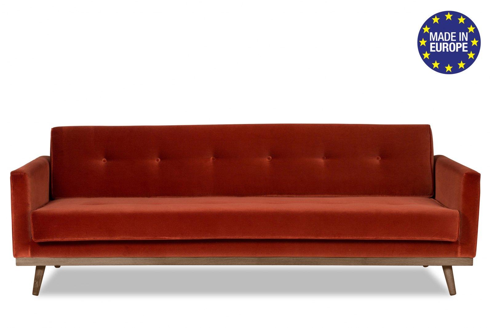 Hugo 3 Seater Velvet Sofa-Bed / 1