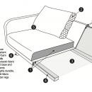 Janson 3 Seater Linen Sofa / 8 Preview