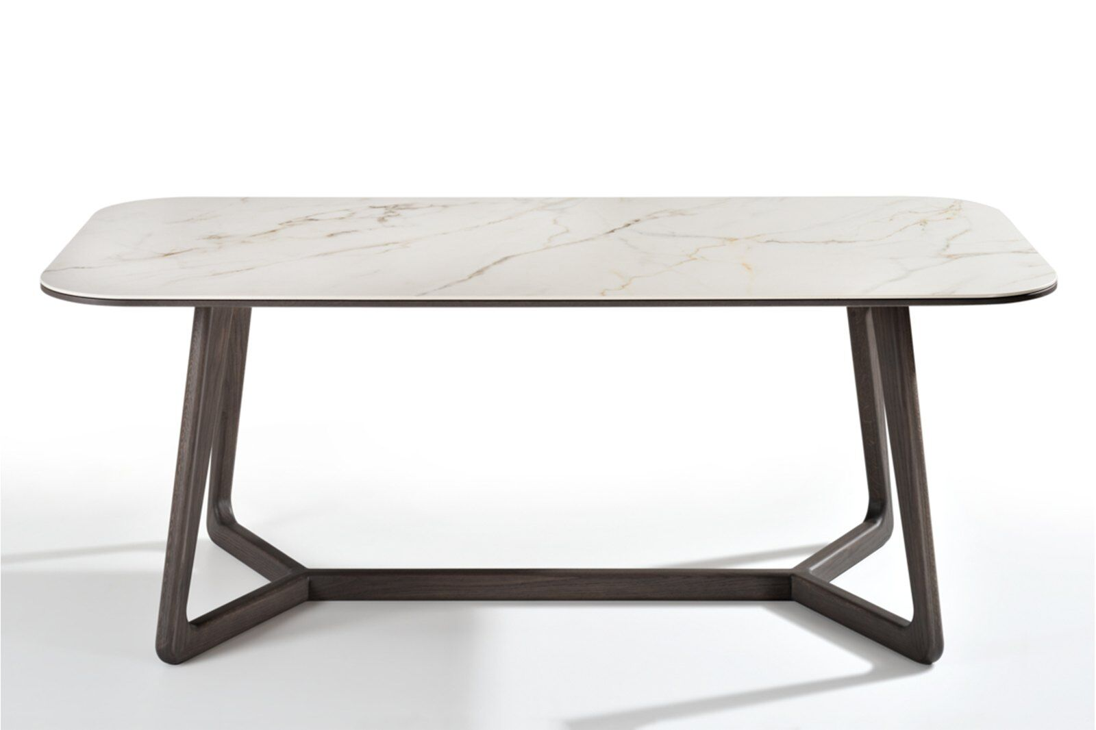 Totem Marble-effect Ceramic Top Dining Table 180cm / 1