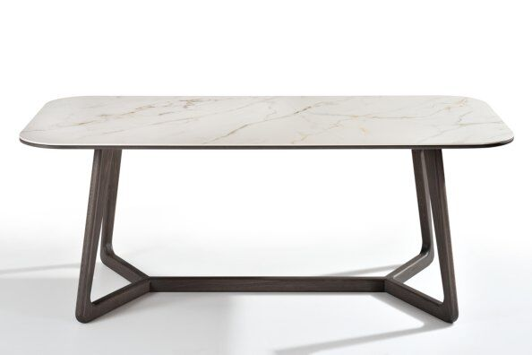 Totem Marble-effect Ceramic Top Dining Table 180cm