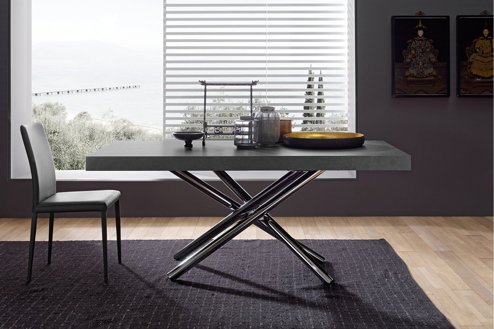 Roma Slate-effect Dining Table 180cm / 1