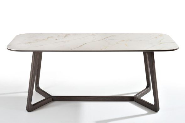 Totem Marble-effect Ceramic Top Dining Table 220cm