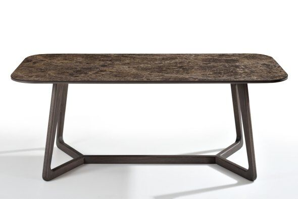 Totem Marble-effect Ceramic Top Dining Table 200cm