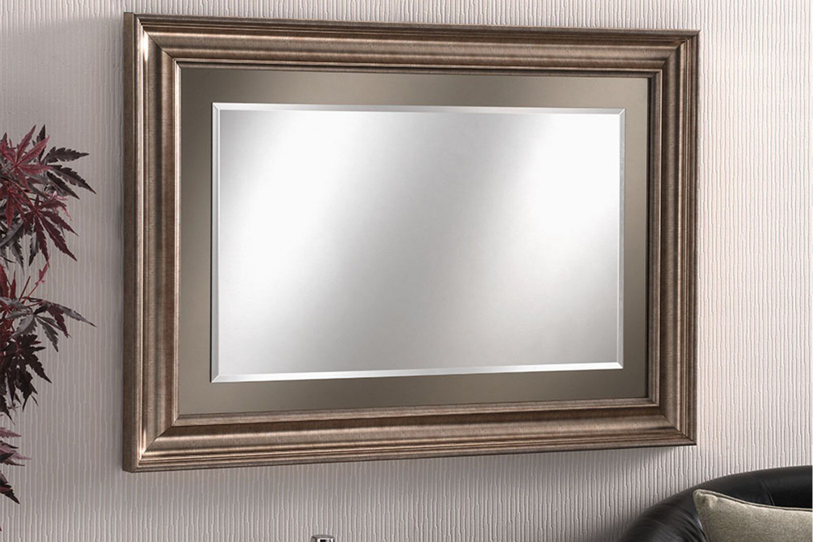 Fairmont Rectangular Bronze Wall Mirror 118 x 92cm / 1