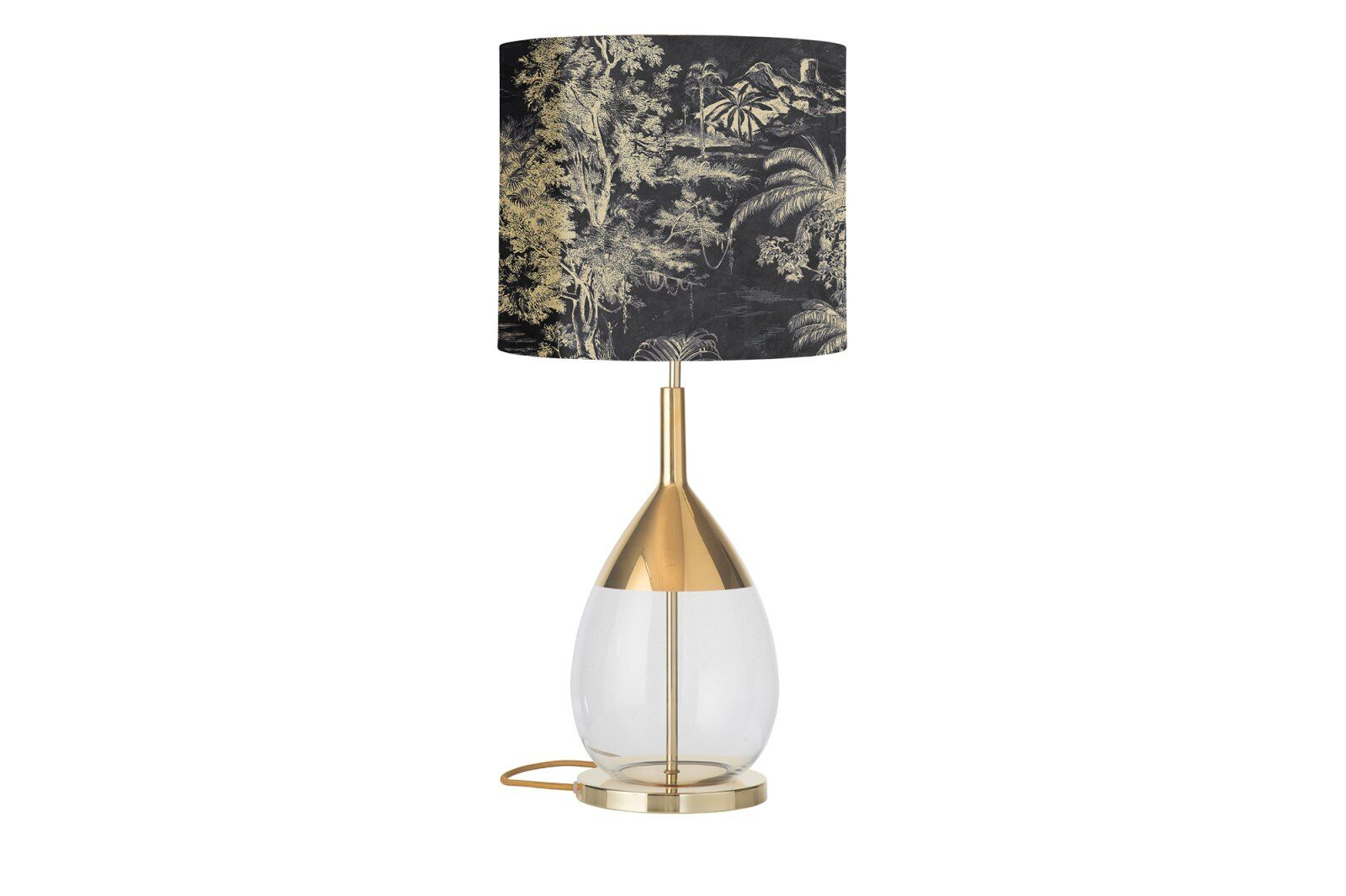Palms Lute Table Lamp, Clear Gold / 1