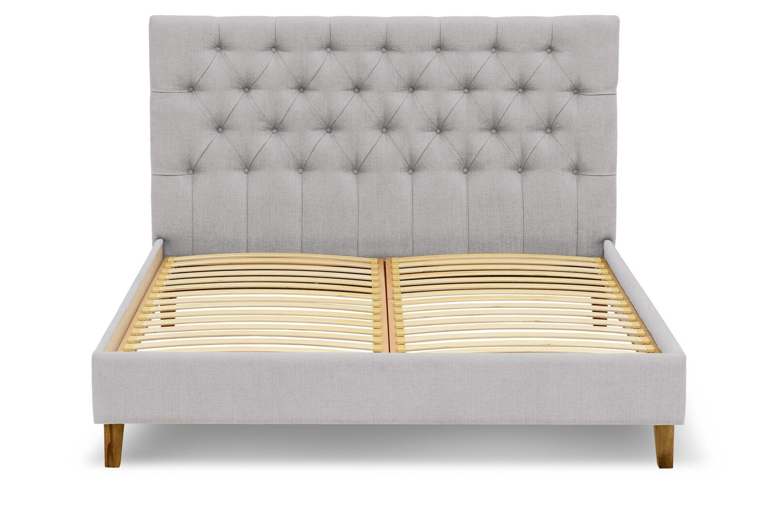 Alex Linen Upholstery Emperor Size Bed / 1
