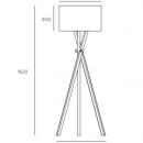 Crib Wood Tripod Floor Lamp / 3 Preview