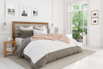 Easton Super King Bed , Solid Wood Frame / 6 Preview