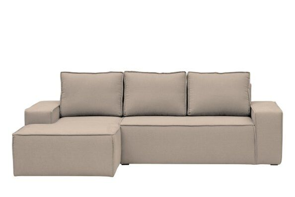 Hoxton Linen Corner Sofa-Bed - Left Hand