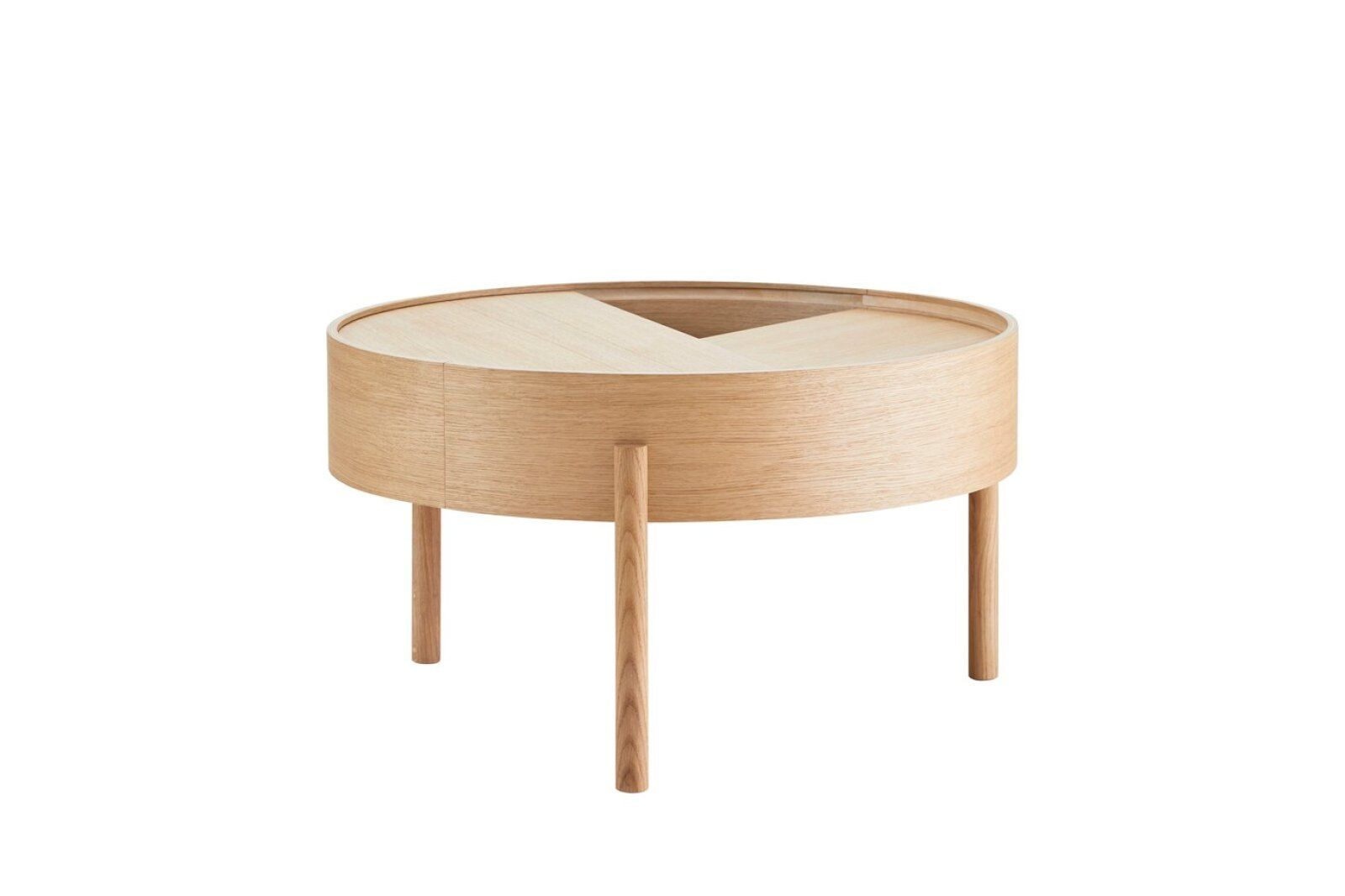 Arc Coffee Table With Storage 66 cm  / 1