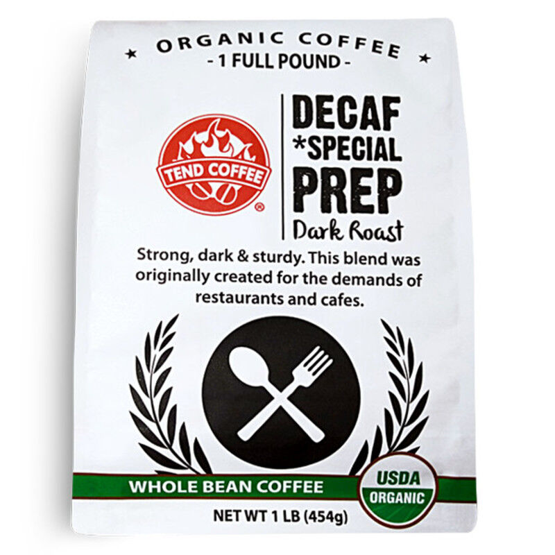 Decaf Special Prep, Certified Organic, 16oz