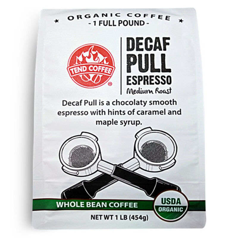 Decaf Pull Espresso Blend, Certified Organic, 16oz