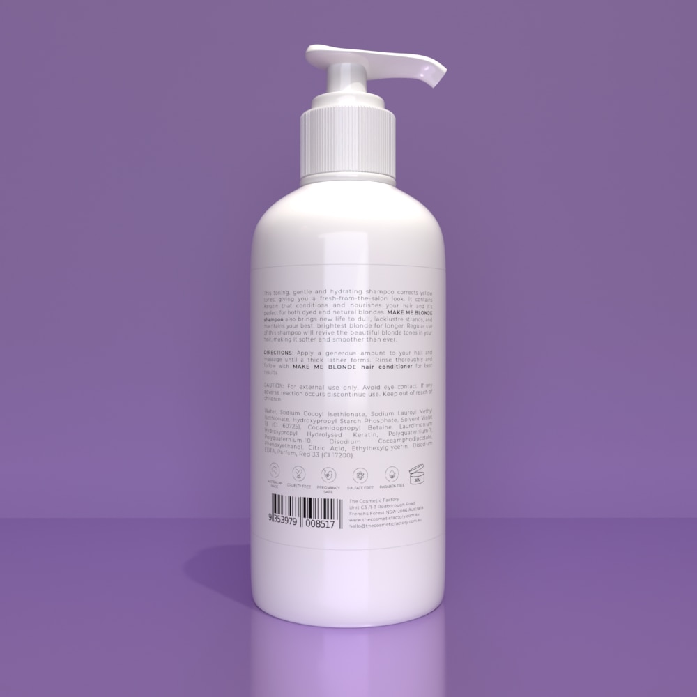 MAKE ME BLONDE SHAMPOO - Protects against colour fade and evens yellow tones