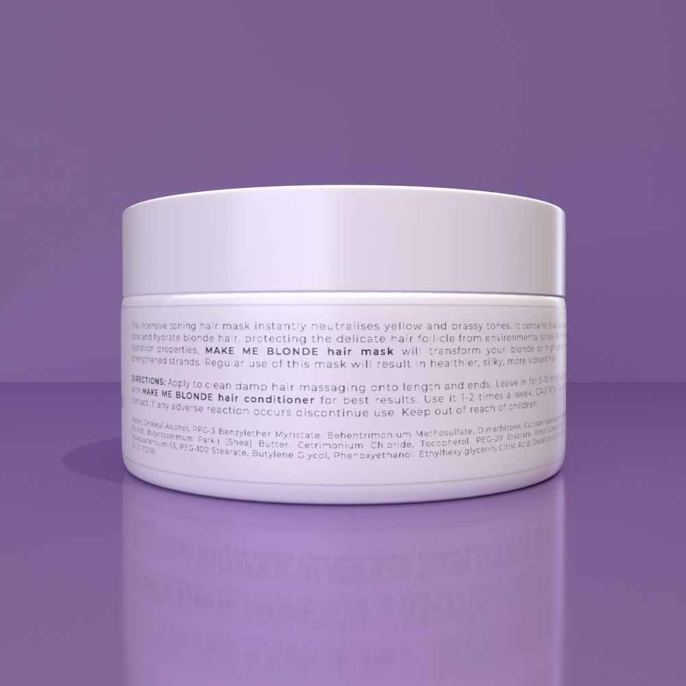 MAKE ME BLONDE HAIR MASK - Protects against colour fade and evens yellow tones