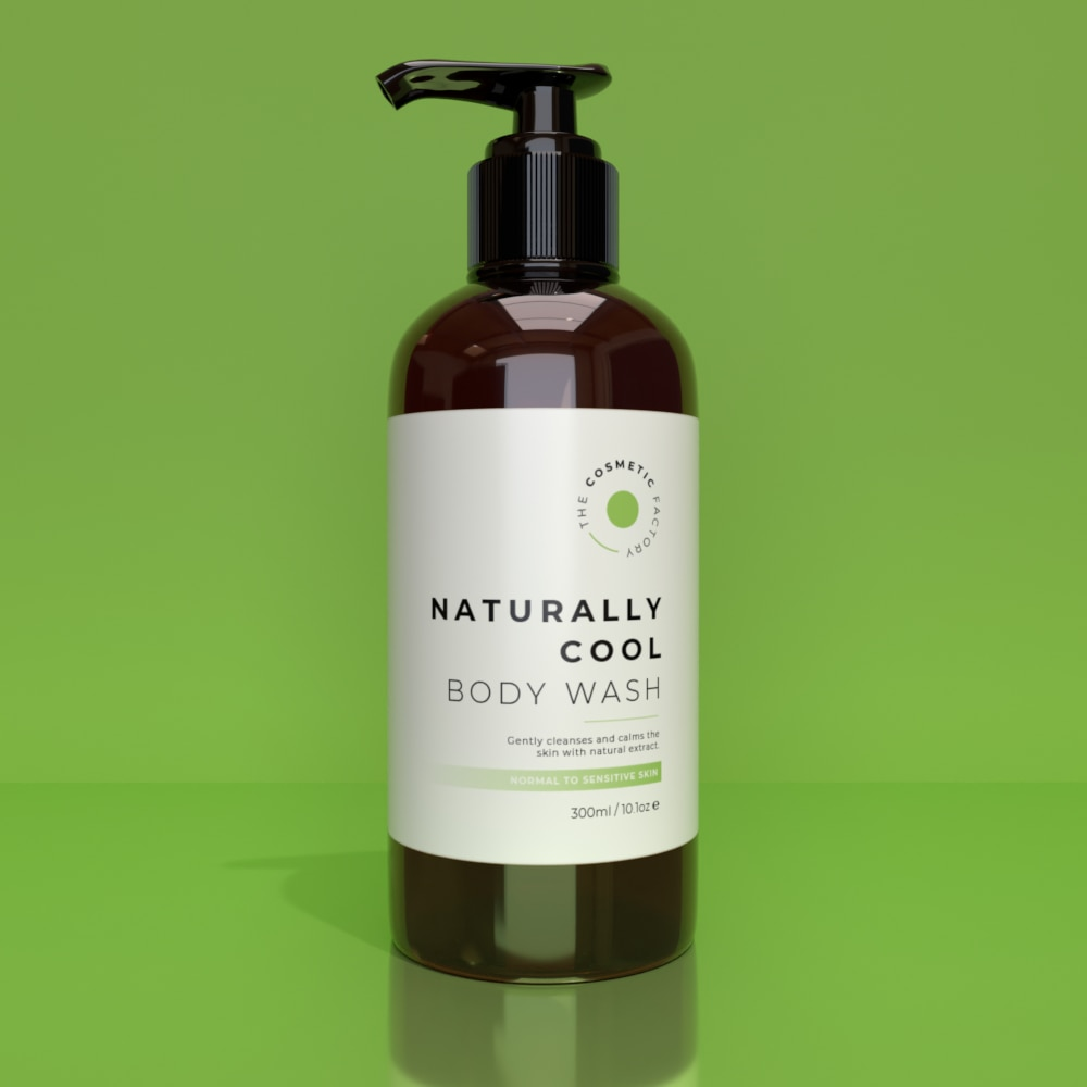 NATURALLY COOL BODY WASH - Gently cleanses and calms the skin with natural extract