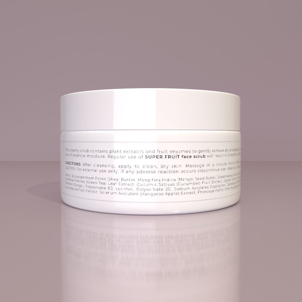 SUPER FRUIT FACE SCRUB - Gentle exfoliation for smooth, soft skin