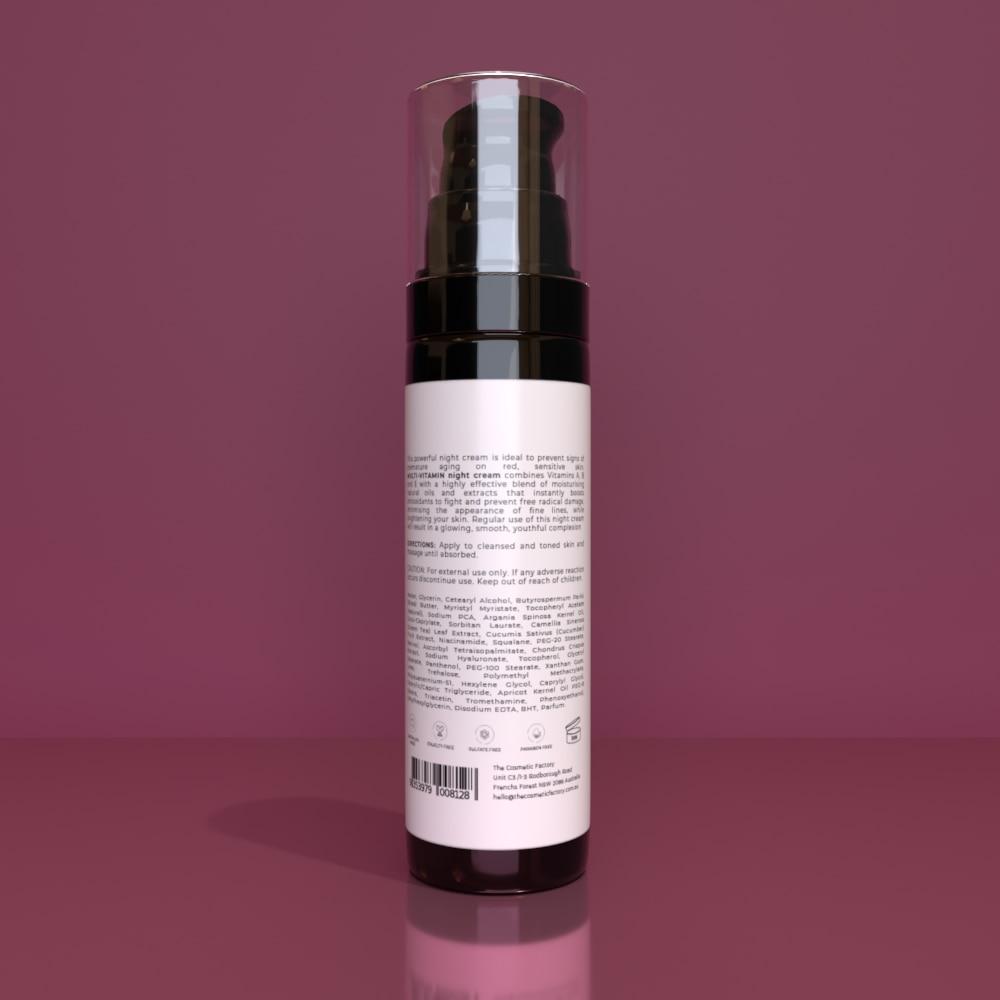 MULTI-VITAMIN NIGHT CREAM - Vitamin boost for a nourished, smooth, glowing skin