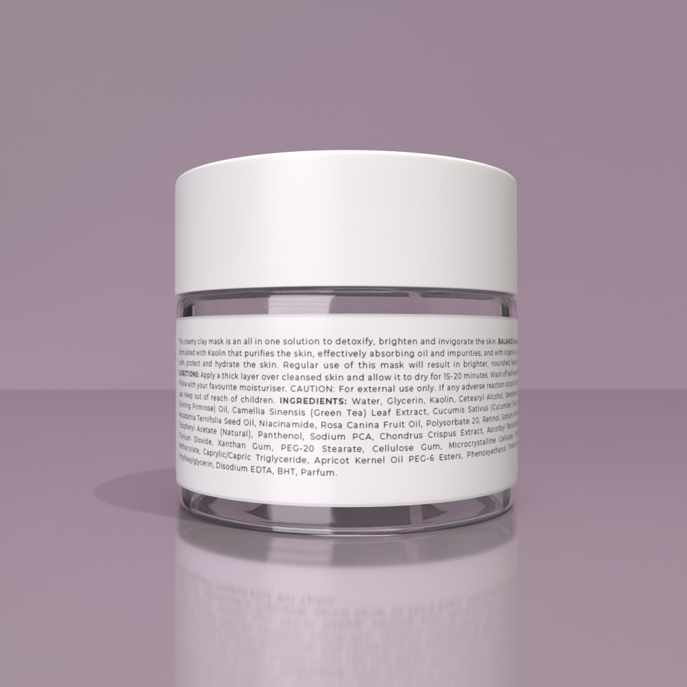 BALANCE FACE MASK - Clay-based mask to balance and nourish skin