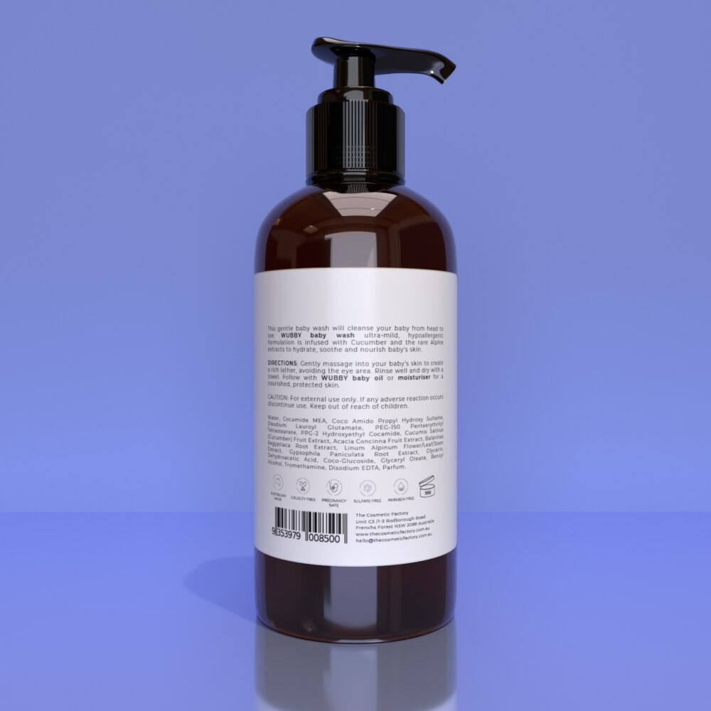 WUBBY BABY WASH - Gently cleanses and calms baby skin