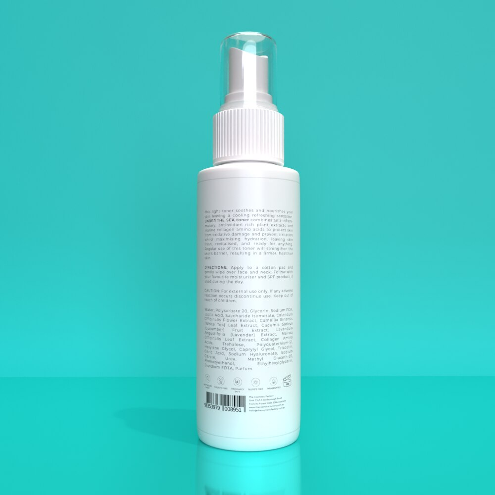 UNDER THE SEA TONER - Works within the pores to keep them clear and fresh looking