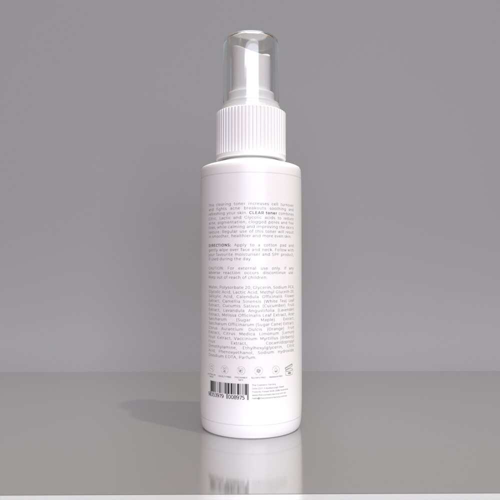CLEAR TONER - Soothes and nourishes skin whilst fighting acne breakouts