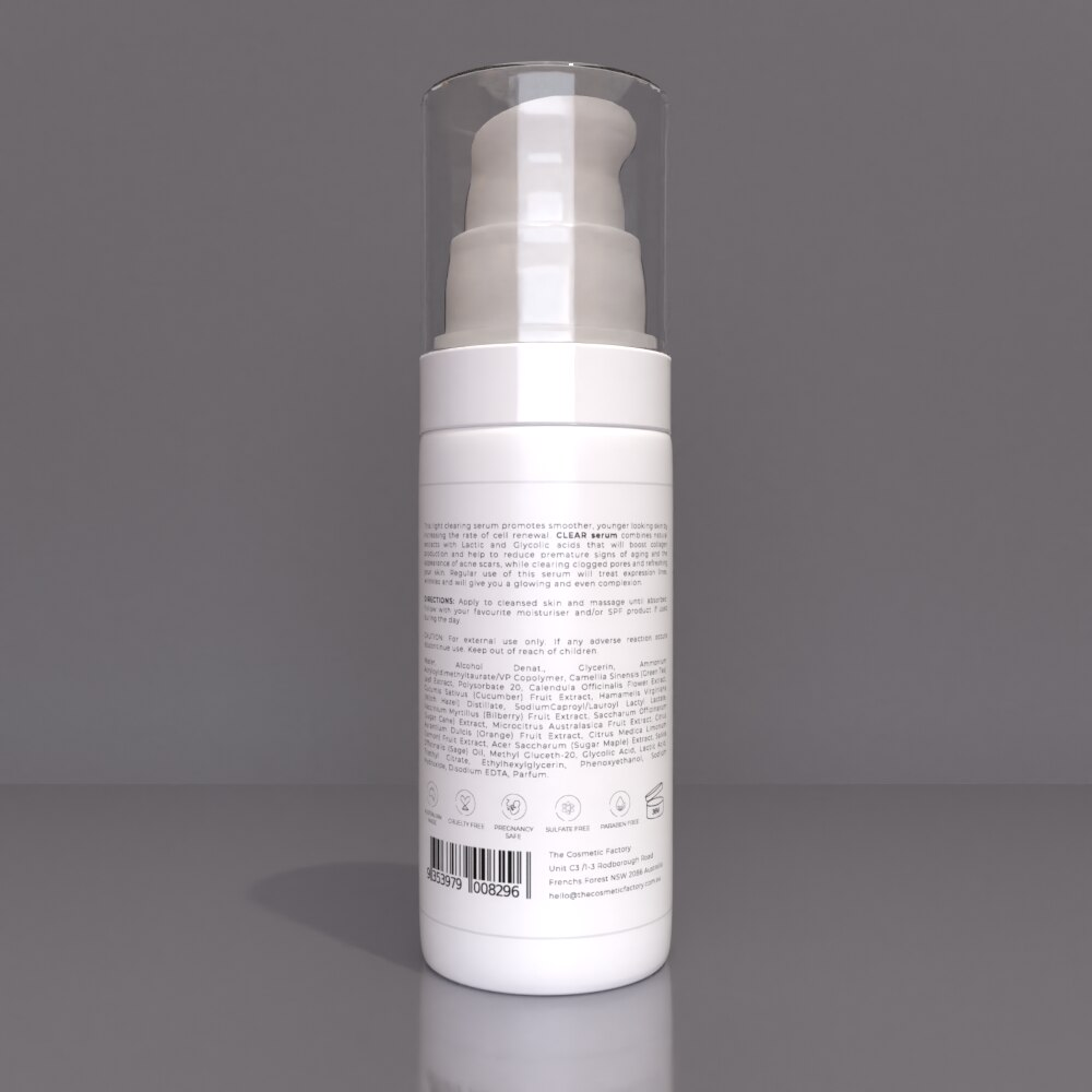 CLEAR SERUM - Hydrates skin from within reducing aging signs