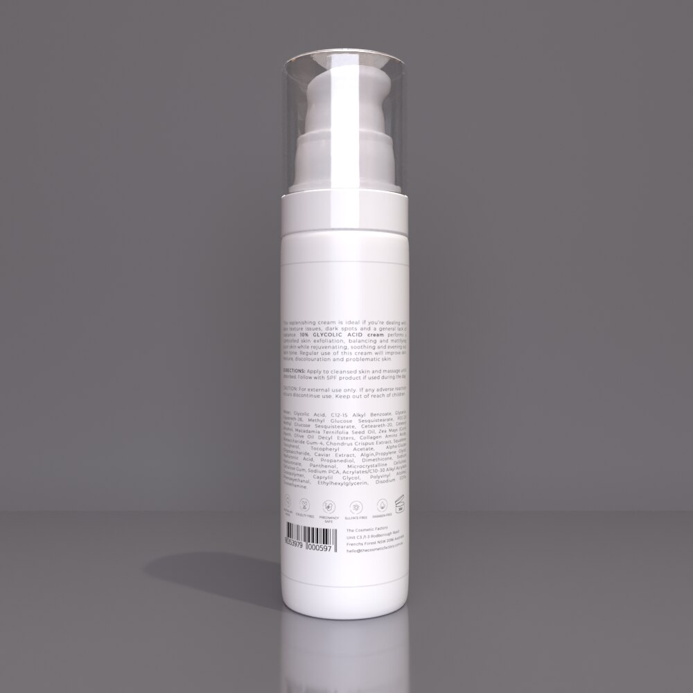 10% GLYCOLIC ACID CREAM - Resurfaces and clears skin