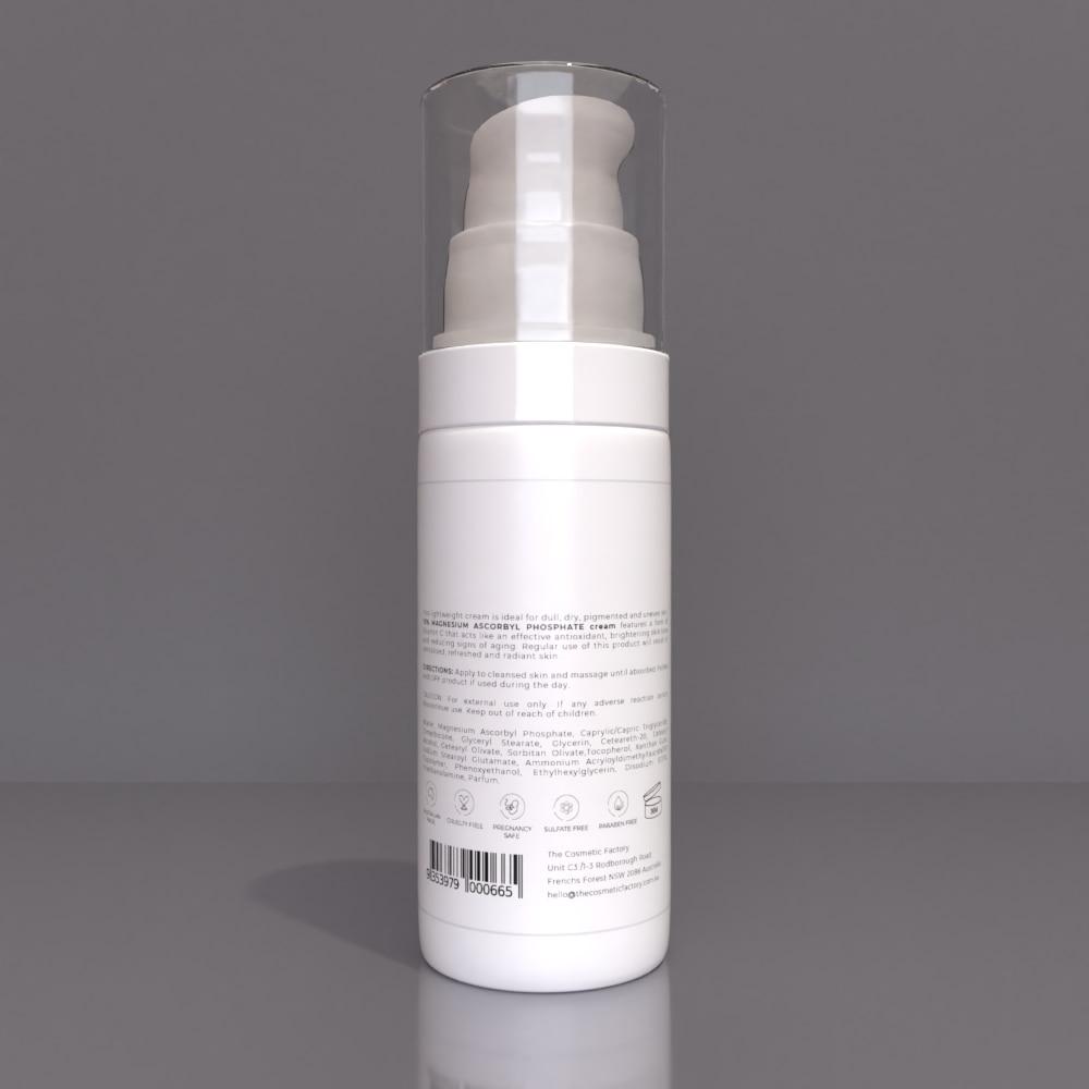 10% MAGNESIUM ASCORBYL PHOSPHATE CREAM - Brightens and evens skin tone