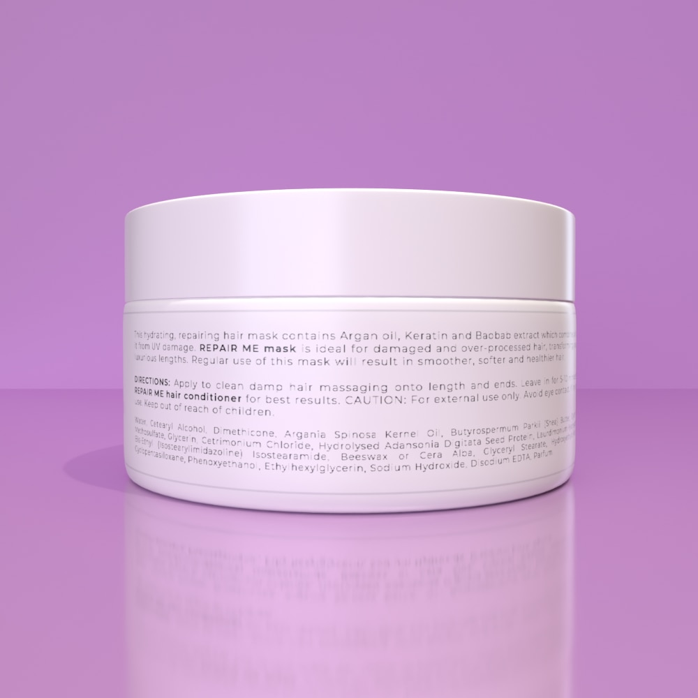 REPAIR ME HAIR MASK - Protects against heat styling and environmental damage