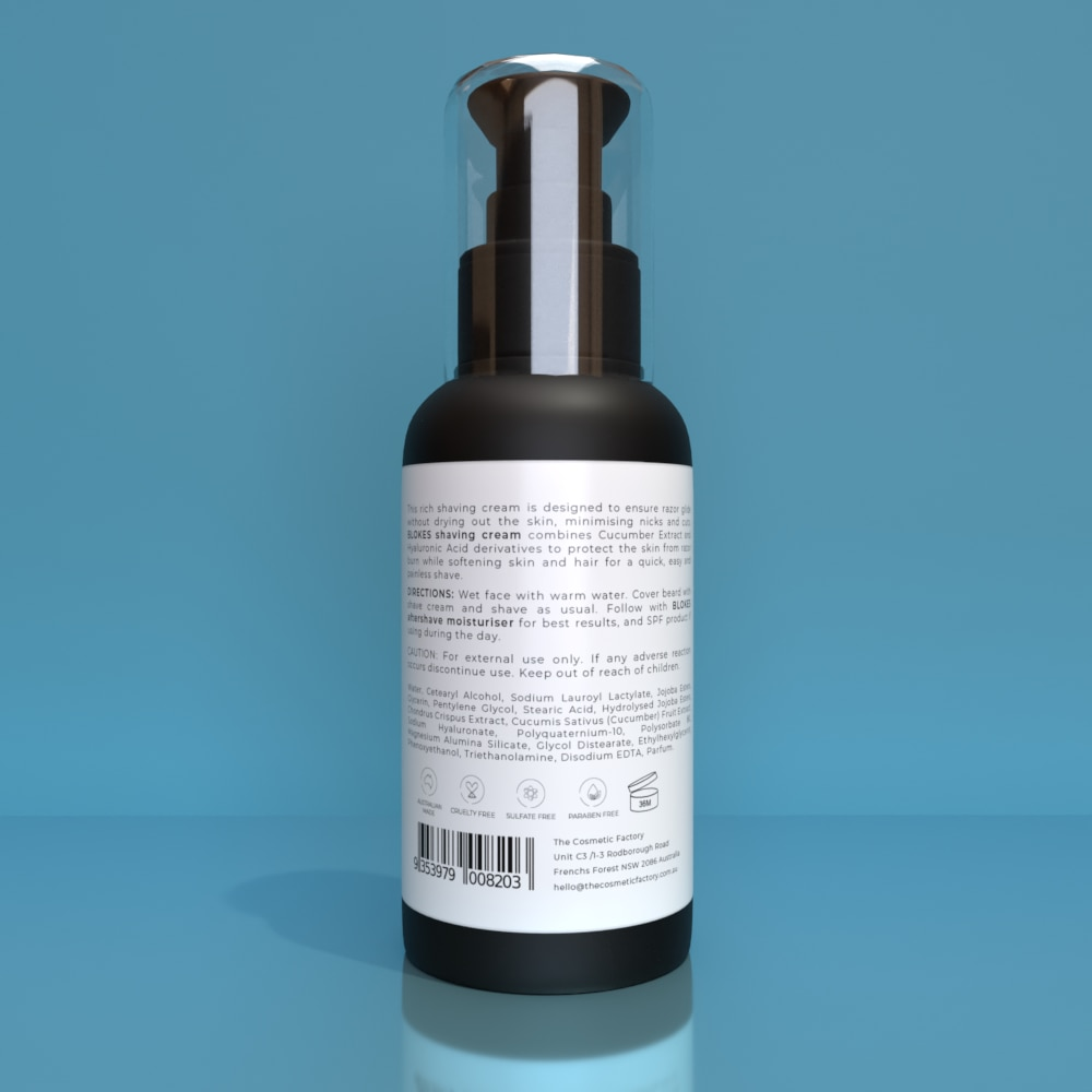 BLOKES SHAVING CREAM - Moisturises and protects skin for a close shave