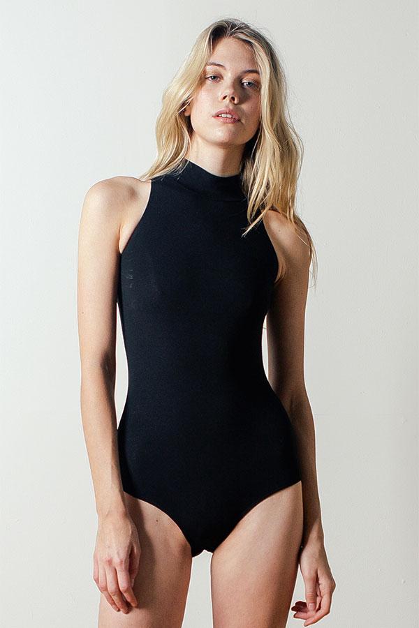 Mock-neck Bodysuit
