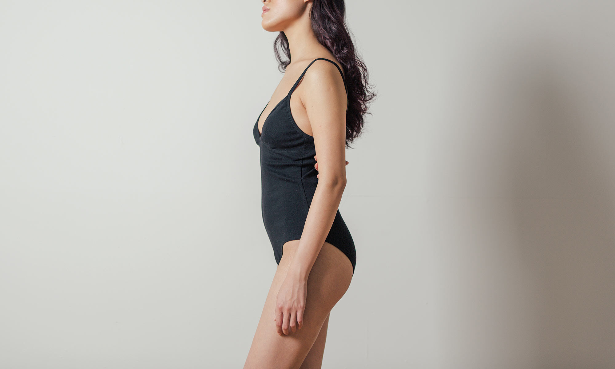 Hina Bodysuit in Black by Botanica Workshop