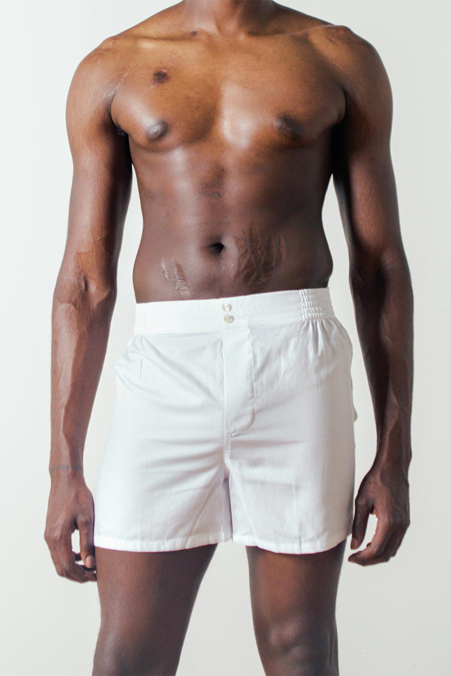 The Boxer Short in White by Hamilton & Hare