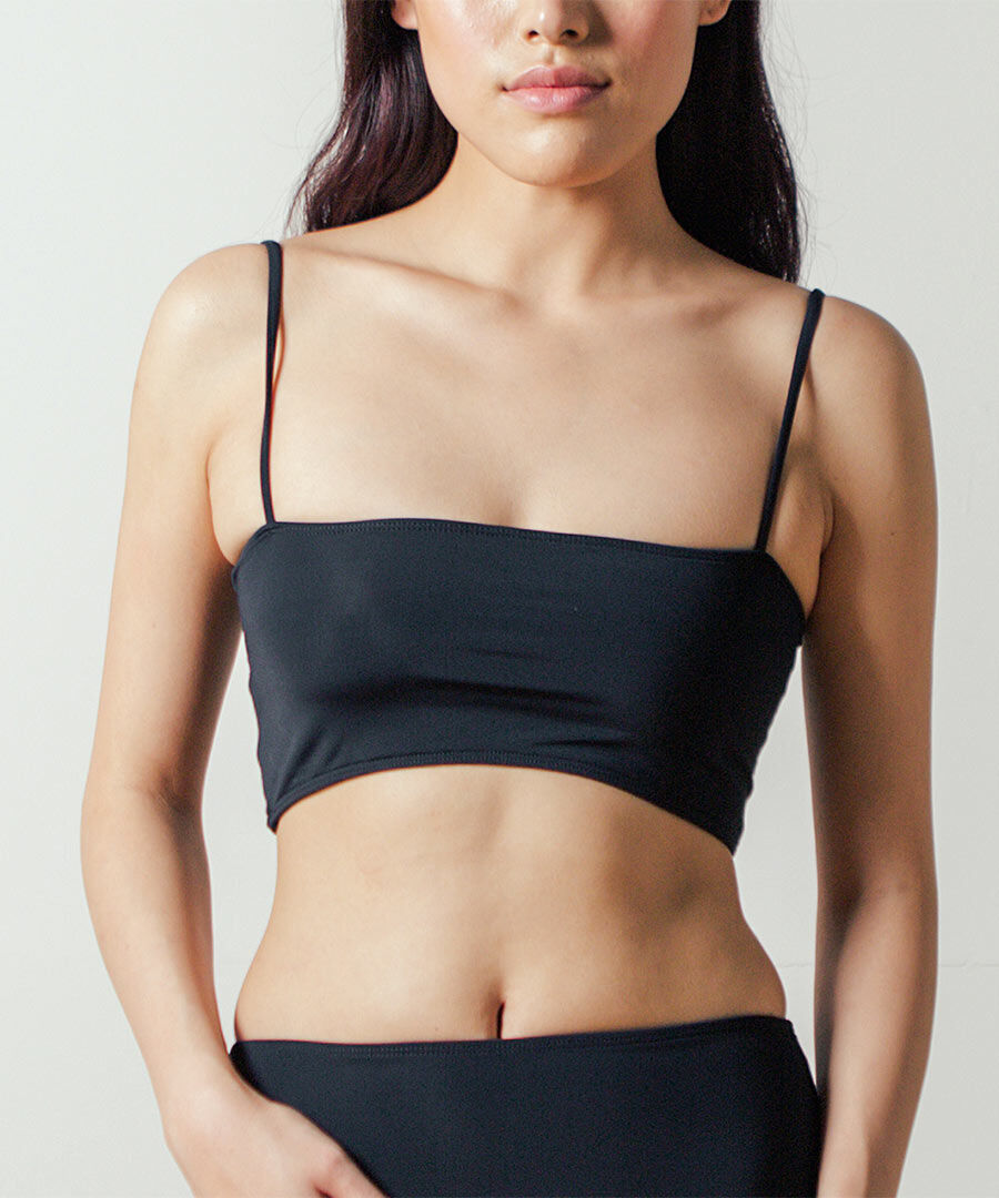 Straight Top in Black by NU SWIM