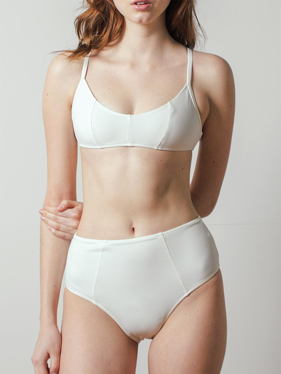 Botan Swim Top in Shell by Botanica Workshop